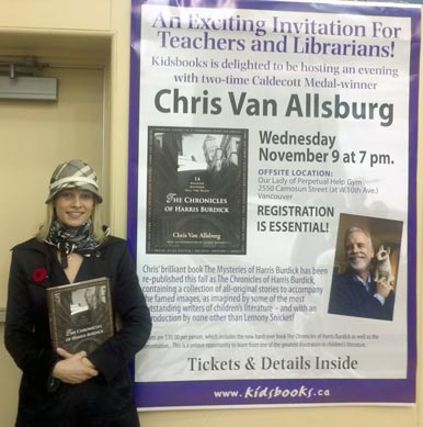 Alexis at Chris Van Allsburg presentation