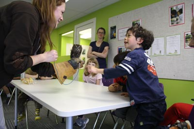 Students meet owls at Pear Tree Education 8