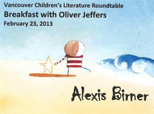 Oliver Jeffers Vancouver Children's Literature Roundtable 3