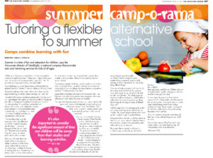 Vancouver Courier article about Pear Tree's Summer Camp May 27th